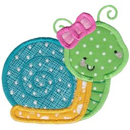 Girl Snail Applique