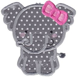 Girl Elephant Applique