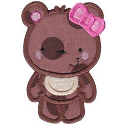 Girl Bear Applique
