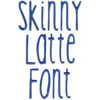 Skinny Latte Font