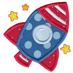 Applique Space Rocket