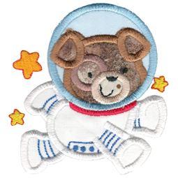 Applique Astronaut Dog