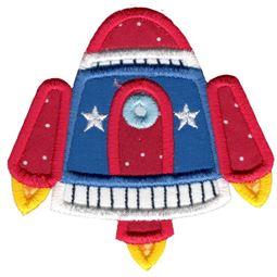 Applique Rocket Ship