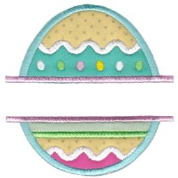 Split Easter Egg Applique