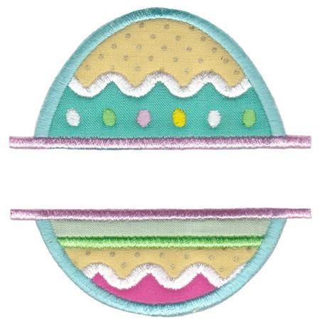 Split Easter Egg Applique
