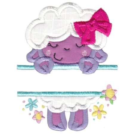 Split Lamb Applique