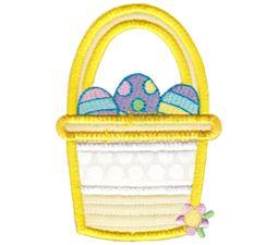Split Easter Basket Applique