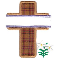 Split Cross Applique