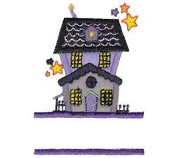 Split Haunted House Applique