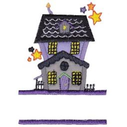 Split Haunted House Applique