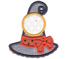 Witches Hat Monogram Applique