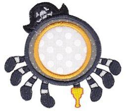 Pirate Spider Monogram Applique