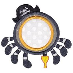 Pirate Spider Monogram Applique