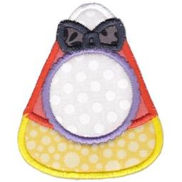 Candy Corn Monogram Applique