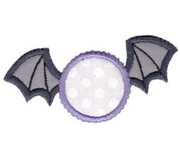 Bat Monogram Applique