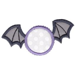 Bat Monogram Applique