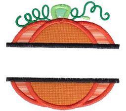 Split Pumpkin Applique