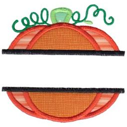 Split Pumpkin Applique