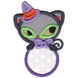 Black Cat Monogram Applique