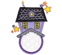 Haunted House Monogram Applique
