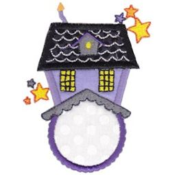 Haunted House Monogram Applique