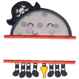 Split Pirate Spider Applique
