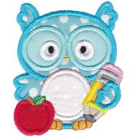 Boy Owl Monogram Applique