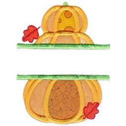 Split Stack of Pumpkins Applique