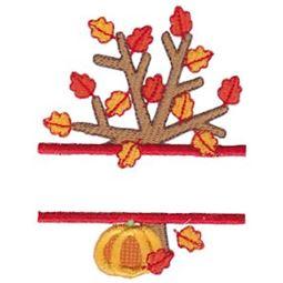 Split Fall Tree Applique