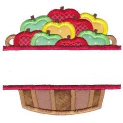 Split Barrel Of Apples Applique