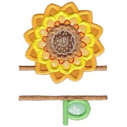 Split Sunflower Applique