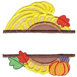 Split Cornucopia Applique