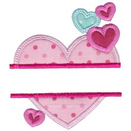 Split Hearts Applique