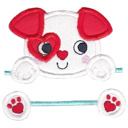 Split Puppy Dog Applique