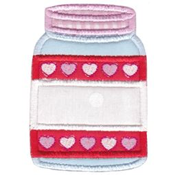Split Mason Jar Applique