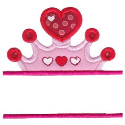 Split Princess Crown Applique