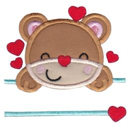 Split Teddy Bear Applique