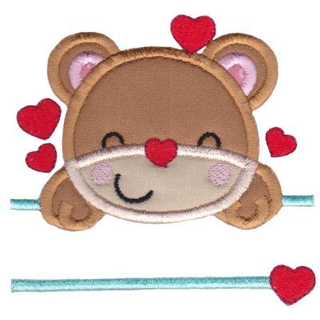 Split Teddy Bear Applique