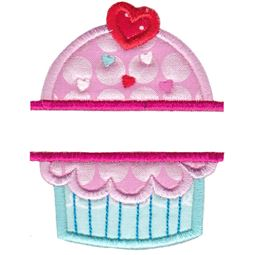 Split Cupcake Applique