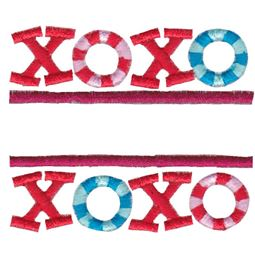 Split XOXO Applique