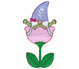 Girl Gnome Sitting In A Tulip