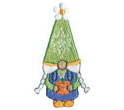 Girl Gnome Holding Daisy Pot Plant