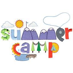 Summer Camp Word Art