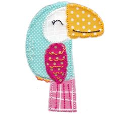 Toucan Raw Edge Applique