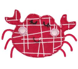 Crab Raw Edge Applique