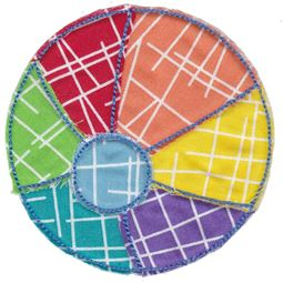 Beach Ball Raw Edge Applique