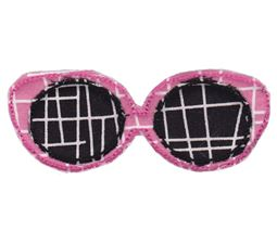 Sunglasses Raw Edge Applique