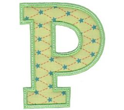 Sweet Greek Alphabet Applique 17