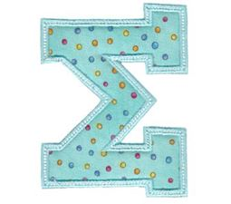 Sweet Greek Alphabet Applique 18