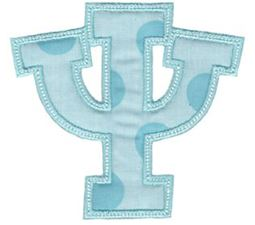 Sweet Greek Alphabet Applique 23